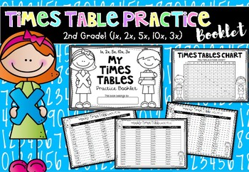 Times Table Facts Practice Booklet (1x, 2x, 5x, 10x, 3x)