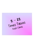 Times Table Flash Cards!