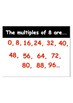 Times Table Flash Cards with the related facts