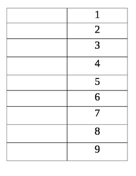 Times Table Flip Chart