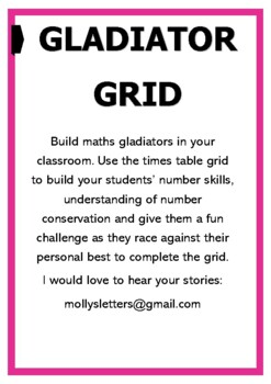 Times Table Grid for maths Mastery