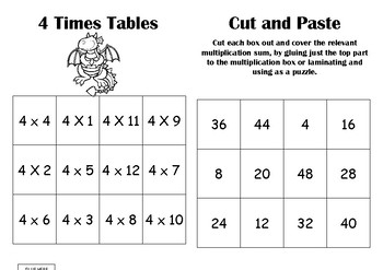 Times Table Match ups