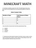 Minecraft Math Problems (STAAR Based)