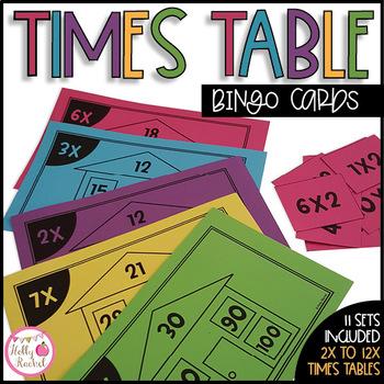 Times Table Multiplication Bingo
