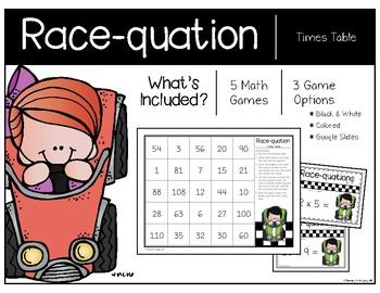 Times Table Race-quation