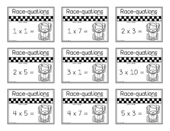 Times Table Race-quation