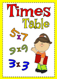 Times Table Resource Pack