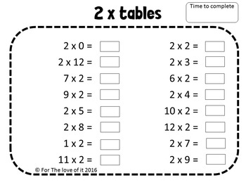"""Times Table """"SPEED"""" - Build fluency with multiplication tables facts!"""