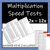 Times Table Speed Tests 2x - 12x (COMPLETE PACK)