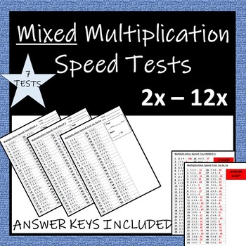 Times Table Speed Tests (MIXED)
