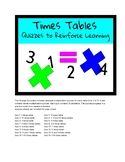 Times Table Tests (individual table tests and mixed table tests)
