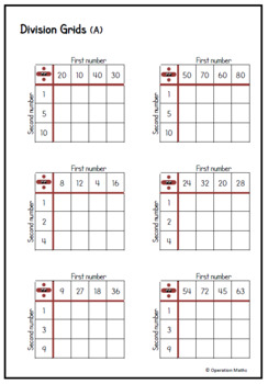 Times Table and Division Grids BUNDLE