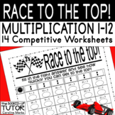 Multiplication Times Tables Test Practice 1-12 RACE TO THE