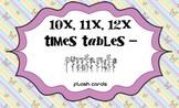 Times Tables - 10x,11x,12x- Butterflies Flash Cards
