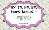 Times Tables - 6x,7x,8x,9x - Butterflies Flash Cards