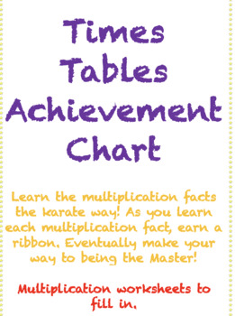 Times Tables Achievement Chart