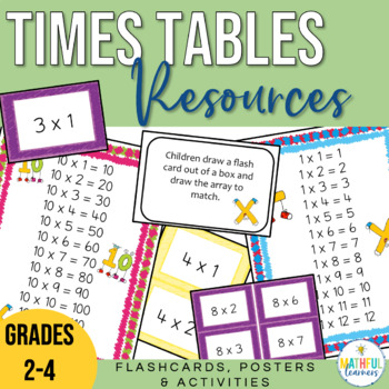 Times Tables Activities, Flash Cards and Posters (multiplication)