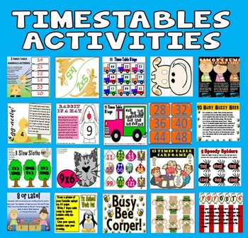 Times Tables Activities Games KS1-2 Maths Numeracy