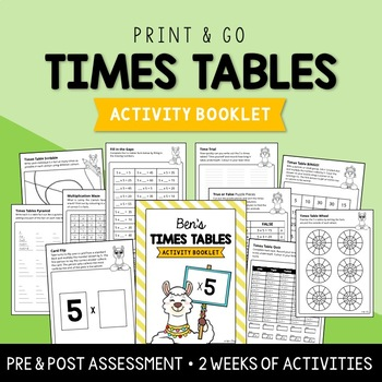 5 x Times Tables Activity Booklet