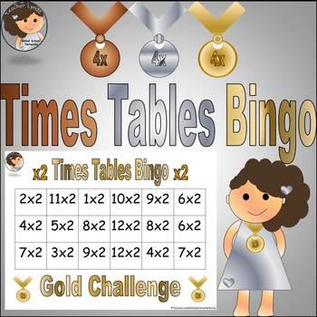 Times Tables Bingo Challenge 2's