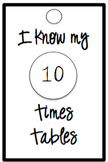 Times Tables Brag Tags