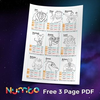 Times Tables Card Game - Numbo