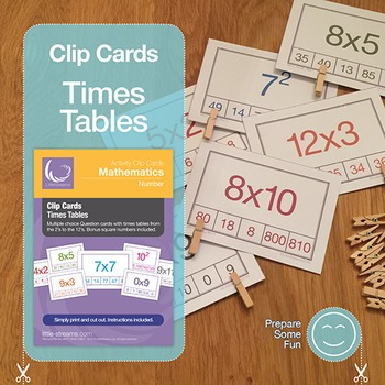 Times Tables Clip Cards