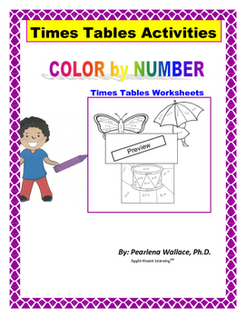 Math: Times Tables: Color By Number (Multiplication)