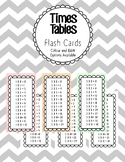 Times Tables Flash Cards (Colour and B&W)