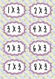 Times Tables - Flash Cards.Butterflies- 2x,3x,4x,5x