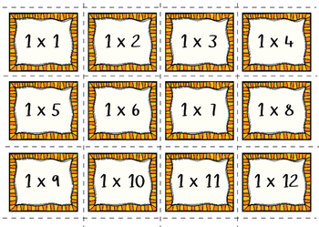 Times Tables Flash Cards - Multiplication - Independent/Group Practise