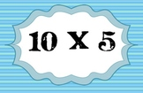 Times Tables - Flash Cards. Stripes - 5x