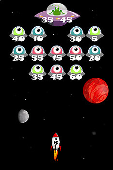 Times Tables Game - Alien Attack - 6, 7, 9, 11, 12