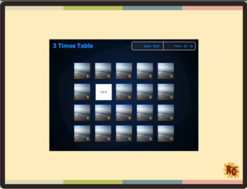 Maths Times Tables 22 Interactive Games Set