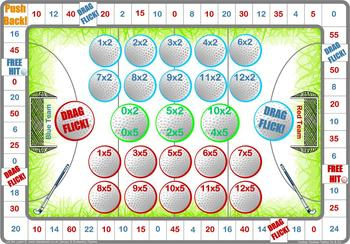 Times Tables Hockey Themed Board Games