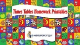 Times Tables Homework Printables