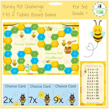 Times Tables Honey Pot Challenge Game: 1-10 x Tables