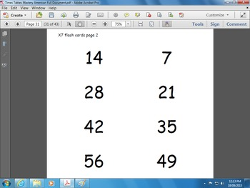 Times Tables Mastery English Version