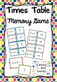 Times Tables Memory Game