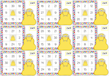 Times Tables Monster Multiplication Bingo: 2 & 3 x Forwards
