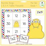 Times Tables Monster Multiplication Bingo: 2 & 3 x Forwards