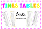 Times Tables Daily Tests Inverse Operations