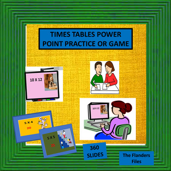 TIMES TABLES POWER POINT PRACTICE OR GAME