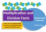 Times Tables, Multiplication and Division Flashcards