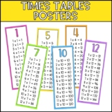 Times Tables Posters - Thin