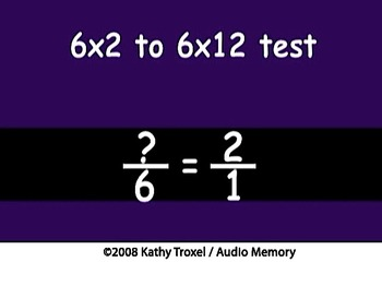 Times Tables Practice 2s to 6s with Fractions mp4 Sing Along by Kathy Troxel