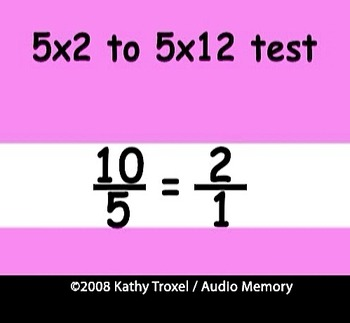 Times Tables Practice 4s to 6s with Fractions by Kathy Troxel
