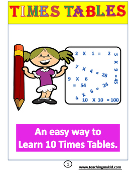 3rd Grade - Times Tables Practice Book 20 Printable Worksheets