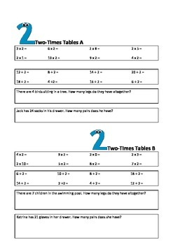 Times Tables Task Cards Trial Version
