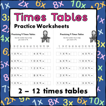 Times Tables Practice Worksheets by little big school | TpT